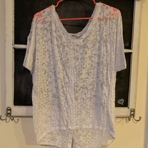 Express Sheer Shirt with Buttons - M